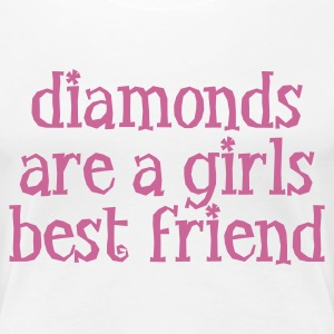 Wit diamonds are a girls best friend T-shirts - Vrouwen Premium T-shirt