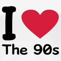 Blanco I love the 90s Camisetas