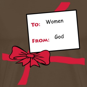 Brown Gift From God Men's Tees - Men's Premium T-Shirt