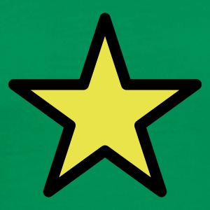 Grass green star outline 2c Men's Tees - Men's Premium T-Shirt
