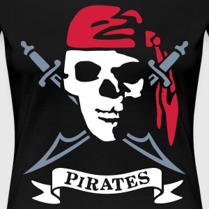 Schwarz pirates T-Shirts - Frauen Premium T-Shirt