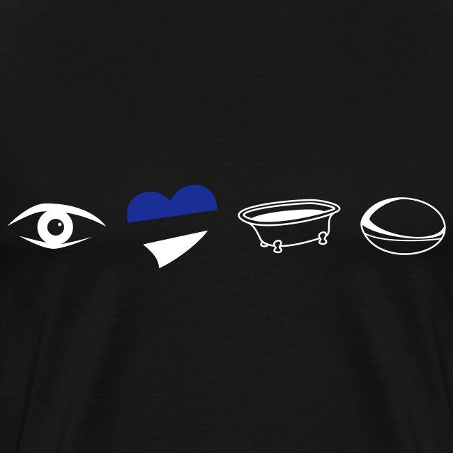 Men's Eye Heart Bath XXXL T-Shirt