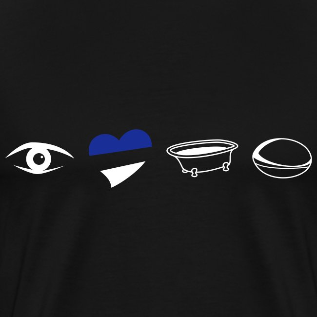 Men's Eye Heart Bath XXXL T-Shirt