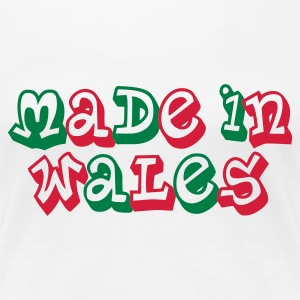 Made in Wales Ladies T-Shirt White - Women's Premium T-Shirt