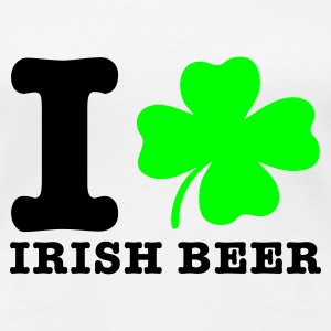 Weiß irish beer bier T-Shirts - Frauen Premium T-Shirt