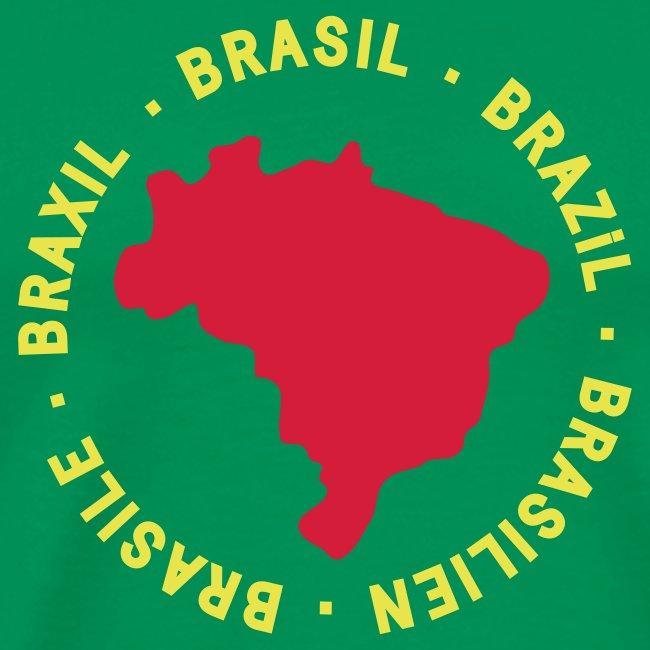 Brasile map - verde