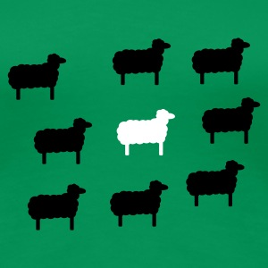 Grass green sheep, lamb, lambs, wool, black, goat, stupid Women's Tees - Women's Premium T-Shirt