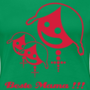 Beste Mama !!! - mother with two daughters (© alteerian) - Frauen Premium T-Shirt