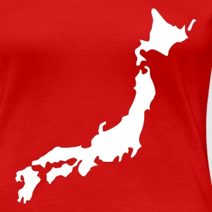 Rot Japan T-Shirts - Frauen Premium T-Shirt