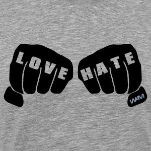 Cendre love vs hate T-shirts - T-shirt Premium Homme