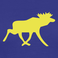 Motiv ~ Elchshirt Comfort, blau-gelb, Schweden-t-shirt