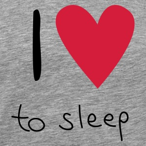 Grau meliert I love to sleep T-Shirts - Männer Premium T-Shirt