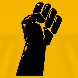 Yellow fight - revolution - riot - war - battle - fist - capitalism Men's Tees - Men's Premium T-Shirt