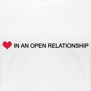 Blanc in an open relationship by wam T-shirts - T-shirt Premium Femme