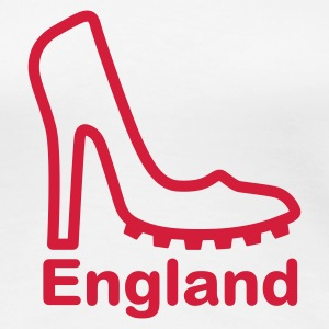 White England Lady football fan Women's Tees - Women's Premium T-Shirt