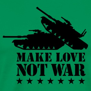 Khaki green Make love not war 1clr Men's Tees - Men's Premium T-Shirt