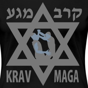 Black Krav Maga Star of David Women's Tees - Women's Premium T-Shirt