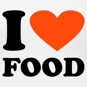 Weiß I Love Food T-Shirts - Frauen Premium T-Shirt