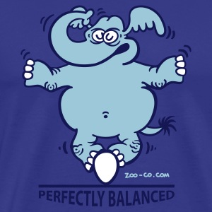 Sky Balanced Elephant Men's Tees - Men's Premium T-Shirt
