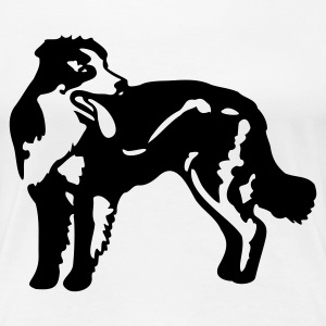Weiß Bordercollie  T-Shirts - Frauen Premium T-Shirt