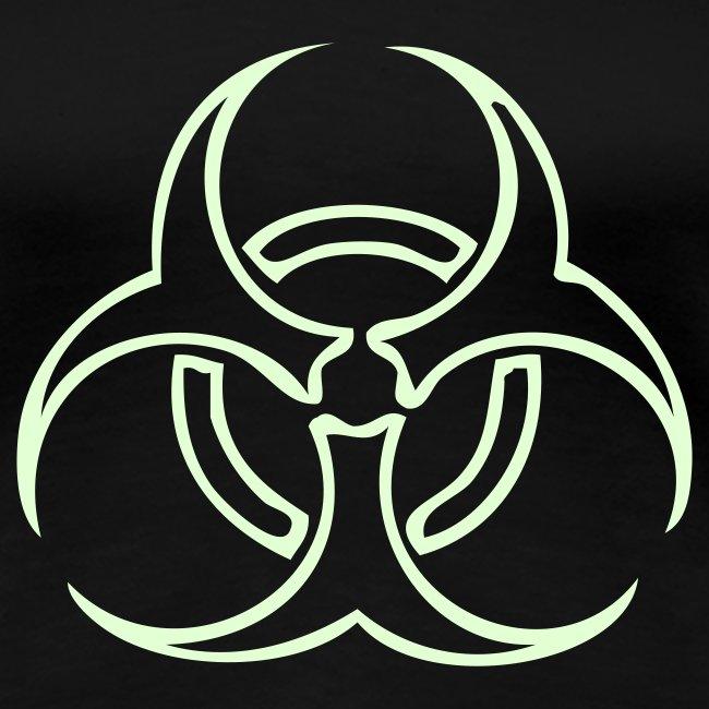 Biohazard Lines - Glow in the dark