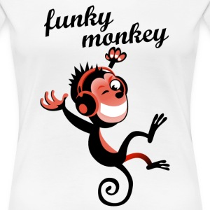 funky monkey red - Frauen Premium T-Shirt