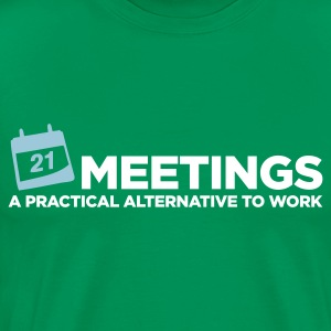 Meetings Alternative to Work (ENG, 2c) - Herre premium T-shirt