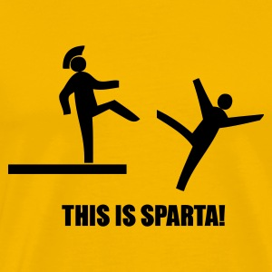 Geel This is SPARTA! T-shirts - Mannen Premium T-shirt