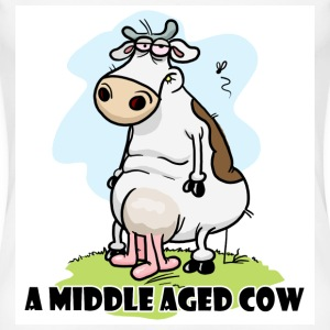 White A Middle Aged Cow Women's Tees - Women's Premium T-Shirt