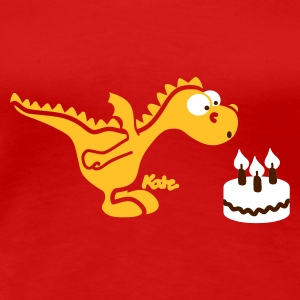 Red happy Birthday, little dragon (c) Women's T-Shirts - Women's Premium T-Shirt