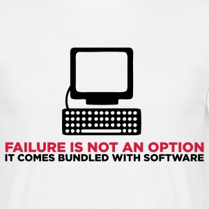 Failure is not an Option (ENG, 2c) - T-skjorte for menn