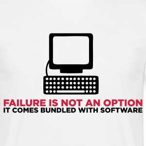 Failure is not an Option (ENG, 2c) - Men's T-Shirt