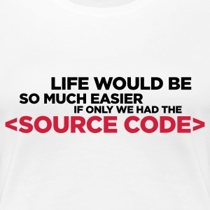 Life Source Code 2 (ENG, 2c) - Frauen Premium T-Shirt