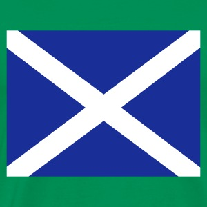 Khaki green Scottish Flag Men's Tees - Men's Premium T-Shirt
