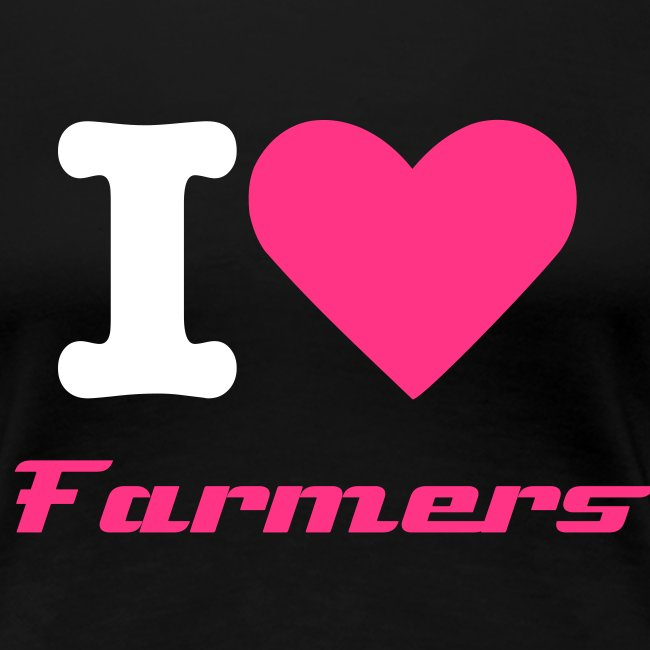 """I (L) Farmers"" Dames Shirt"