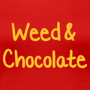 Röd Weed and Chocolate T-shirts - Premium-T-shirt dam