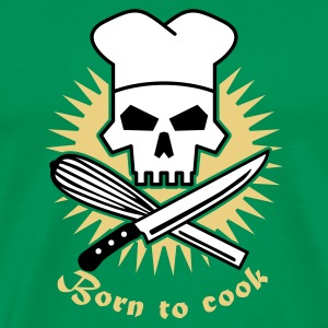 born_to_cook_3 T-shirts - Herre premium T-shirt