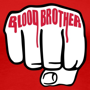 Rot Blood Brother  © T-Shirts - Dame premium T-shirt