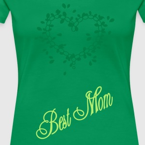 Grass green best mom (1c) Women's Tees - Women's Premium T-Shirt
