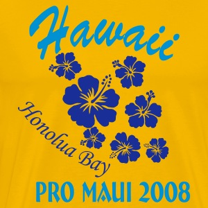 Gelb Hawaii Honolulu Bay T-Shirts - Männer Premium T-Shirt