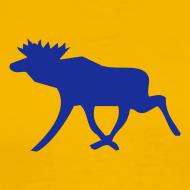 Motiv ~ Elchshirt Comfort, gelb-dunkelblau mit schwedischem Elch