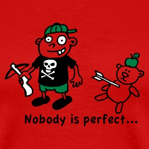 Rot nobody_is_perfect T-Shirts - Männer Premium T-Shirt