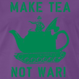 MAKE TEA NOT WAR! - MENS - INDIGO - Men's Premium T-Shirt