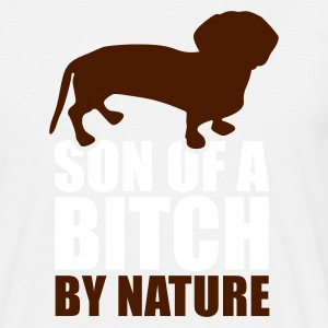 Zandbeige Sun of a bitch by nature 2 clr T-shirts - Mannen T-shirt