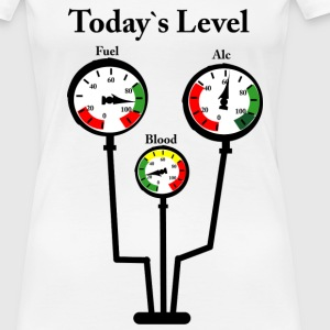 Weiß Level-O-Meter T-Shirts - Frauen Premium T-Shirt
