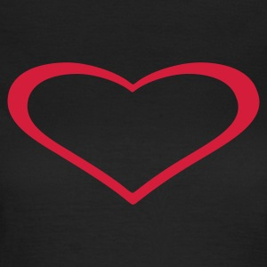 Oliven heart T-shirts - Dame-T-shirt