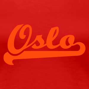 Red geo_oslo_team_spirit_1c Women's Tees (short sleeved) - Women's Premium T-Shirt