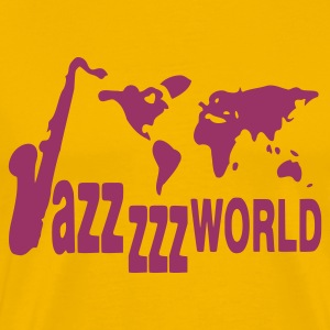 Geel Jazz world T-shirts - Mannen Premium T-shirt
