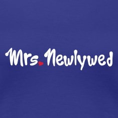 Royal blue Mrs Newlywed Women's T-Shirts