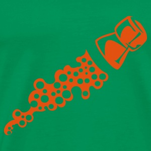 Bottlegreen plopp T-shirts - Mannen Premium T-shirt